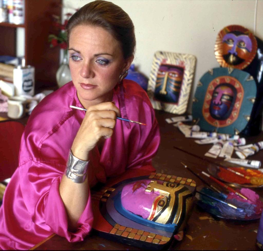 Laurel in her Sausalito, California studio circa 1987.